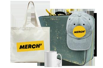 Vous faîtes du merchandising?